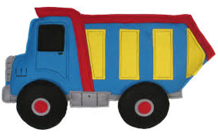 Dump Truck clip art for Clean Up Week