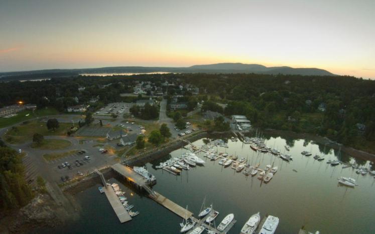 Northeast Harbor Drone view